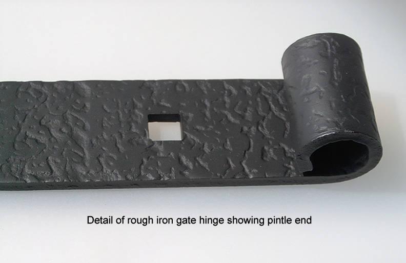 Acorn Rough Iron Strap Hinge With Pintles For Gates