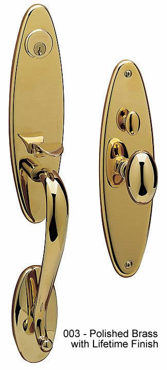Baldwin Colonial Style Solid Brass Handle Set Springfield