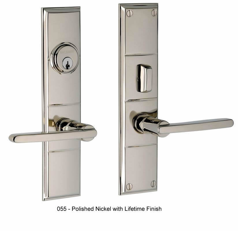 Baldwin contemporary style solid brass entrance set houston for Baldwin entrance sets