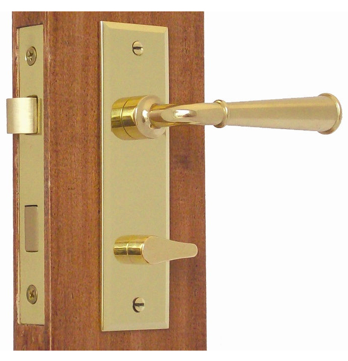Accurate Screen Door Privacy Latch Set Solid Brass Lever