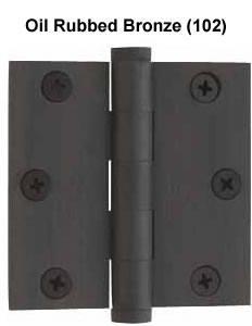Baldwin Hinge 1030 Solid Brass Door Hinge 3 X 3