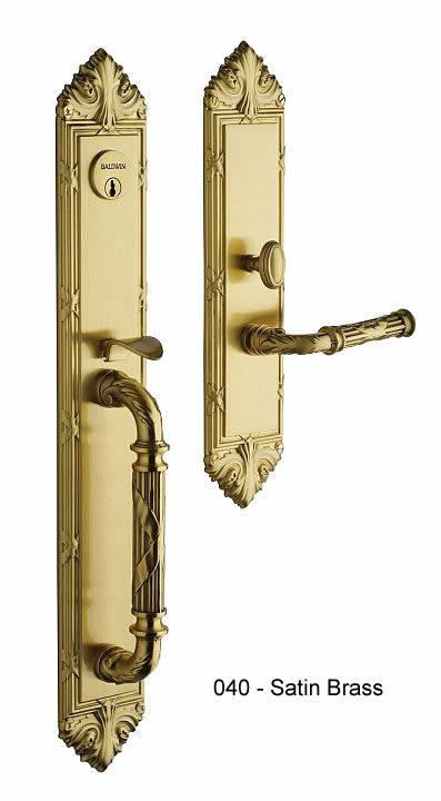 Baldwin Greek Revival Style Solid Brass Handle Set Edinburgh