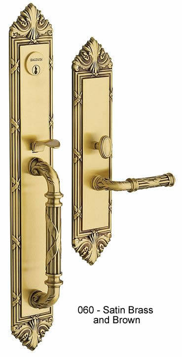 Baldwin Greek Revival Style Solid Brass Handle Set Edinburgh