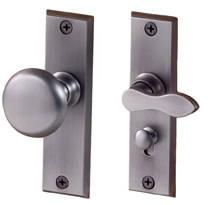 Merit Screen Door Privacy Latch Set Solid Brass Lever By