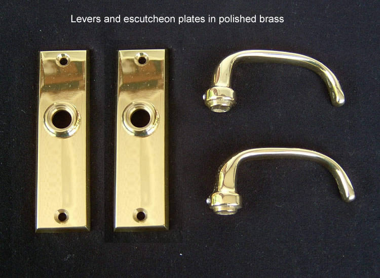 Merit Screen Door Full Dummy Lever Set Solid Brass