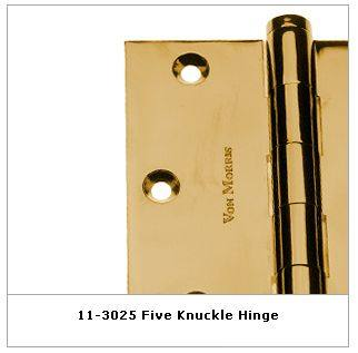 Von Morris Standard Weight Door Hinge Solid Brass