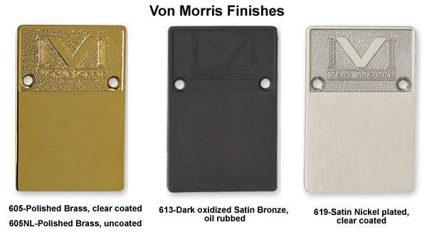 Von Morris Two Knuckle Lift Off Door Hinge Solid Brass