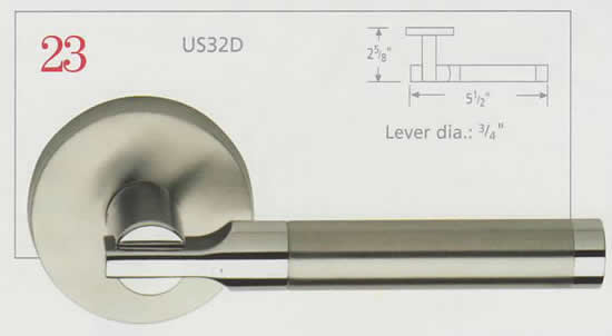 Omnia Stainless Steel and Brass Lever 23 Diagram