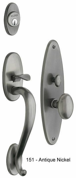 Baldwin Lexington Handle Set in Antique Nickel