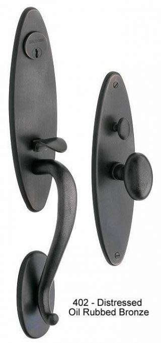 Baldwin Springfield Handle Set in Distressed Oil Rubbed Bronze