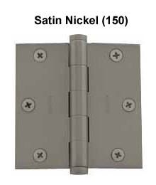"Baldwin 3.5""x3.5"" Door Hinge in Satin Nickel"