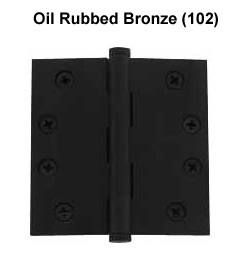"Baldwin 4""x4"" Door Hinge in Oil Rubbed Bronze"