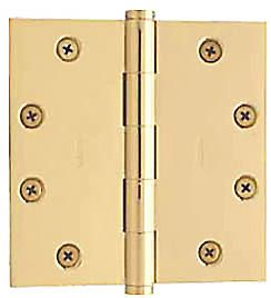 "Baldwin 4""x4"" Door Hinge in Polished Brass"