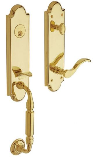 Baldwin Manchester Handle Set in Polished Brass