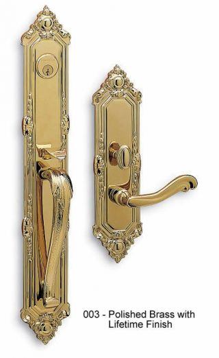 Baldwin Kensington Handle Set in Polished Brass