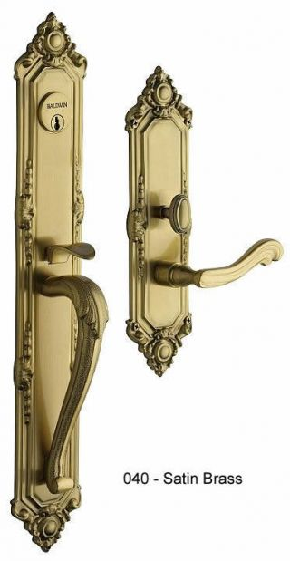 Baldwin Kensington Handle Set in Satin Brass