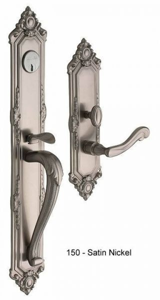 Baldwin Kensington Handle Set in Satin Nickel