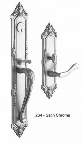 Baldwin Kensington Handle Set in Satin Chrome
