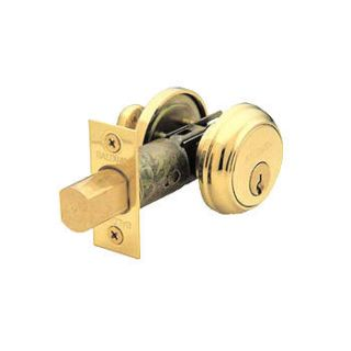 Baldwin High Security Deadbolt in Polished Brass