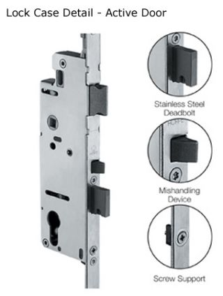 Lock Case Detail for Active Door
