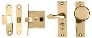 Merit Screen Door Privacy Latch in Polished Brass