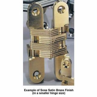 Soss Invisible Hinge in Satin Brass